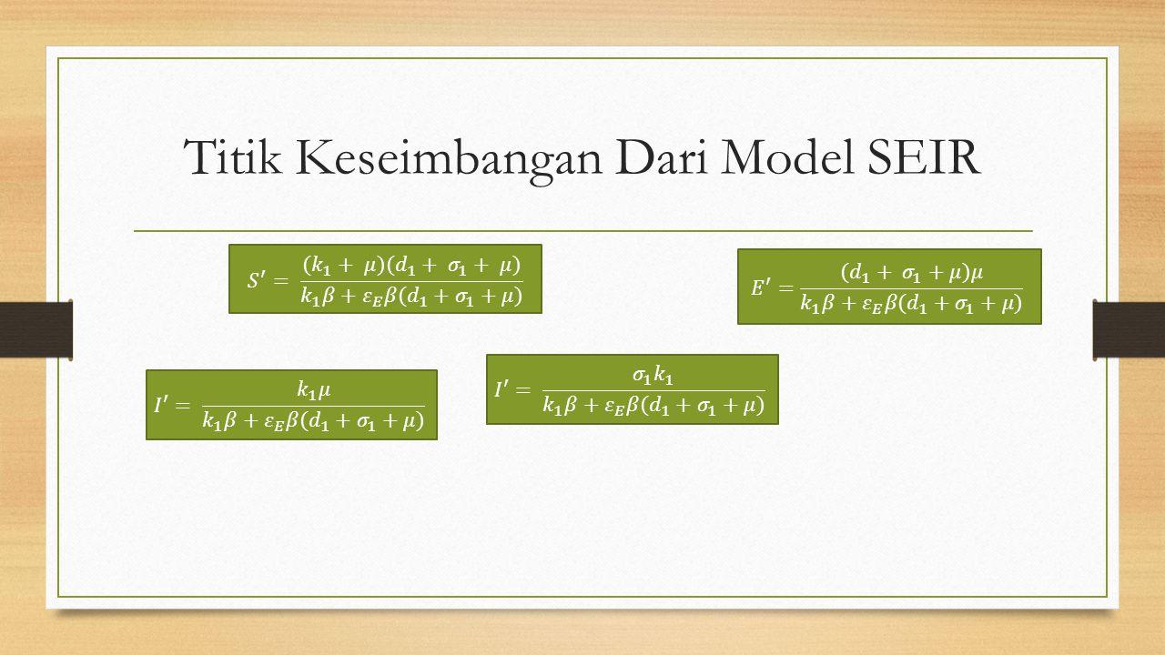 Titik Keseimbangan Dari Model SEIR