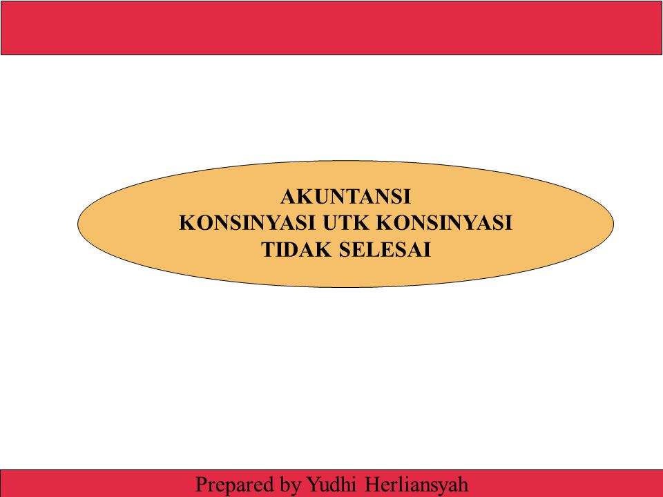 Irwin/McGraw-Hill © The McGraw-Hill Companies, Inc., 1999 Prepared by Yudhi Herliansyah AKUNTANSI KONSINYASI UTK KONSINYASI TIDAK SELESAI