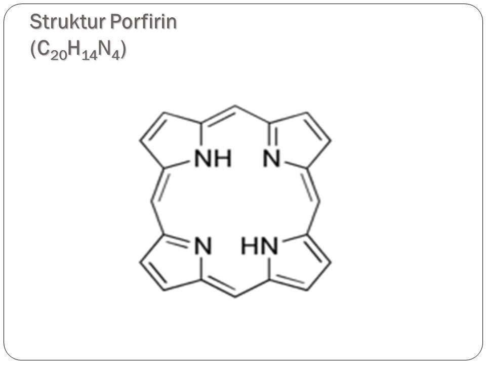 Struktur Porfirin (C 20 H 14 N 4 ) 4