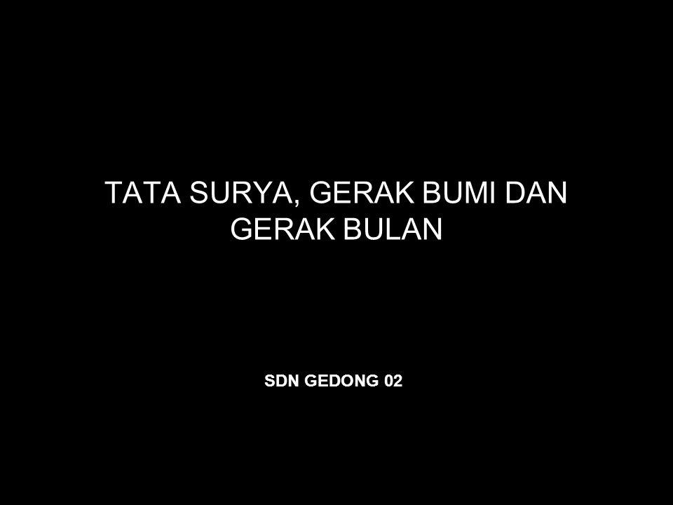 TATA SURYA, GERAK BUMI DAN GERAK BULAN SDN GEDONG 02
