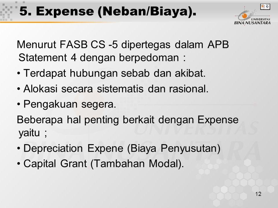 12 5. Expense (Neban/Biaya).