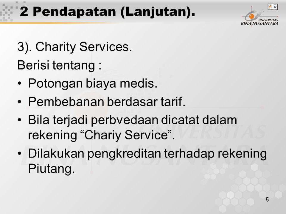 5 2 Pendapatan (Lanjutan). 3). Charity Services.