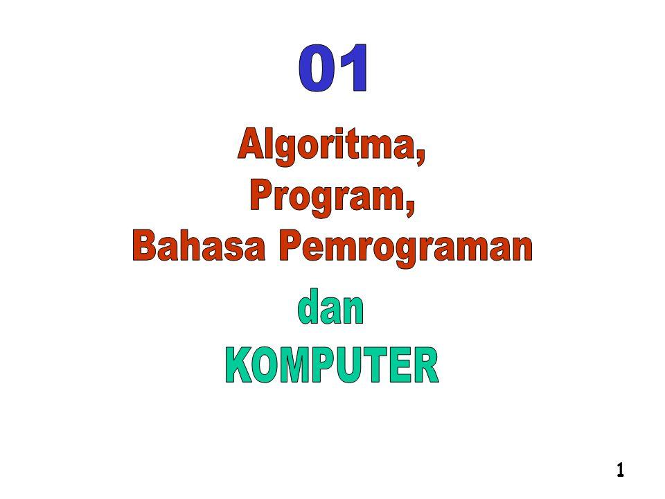 = Langkah-langkah dalam Alagoritma Instruksi-instruksi harus tersusun secara logis Memerlukan LOGIKA yang benar PROGRAM adalah kumpulan instruksi-instruksi yang diberikan kepada komputer untuk menyelesaikan suatu tugas 19