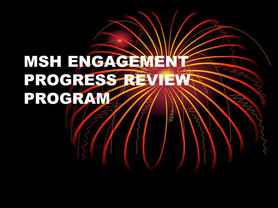 REVIEW PROGRAM MSH ENGAGEMENT Q1-Q2 Activities Establishing the MSH trust building ActivitiesOutput/Achievement 2.