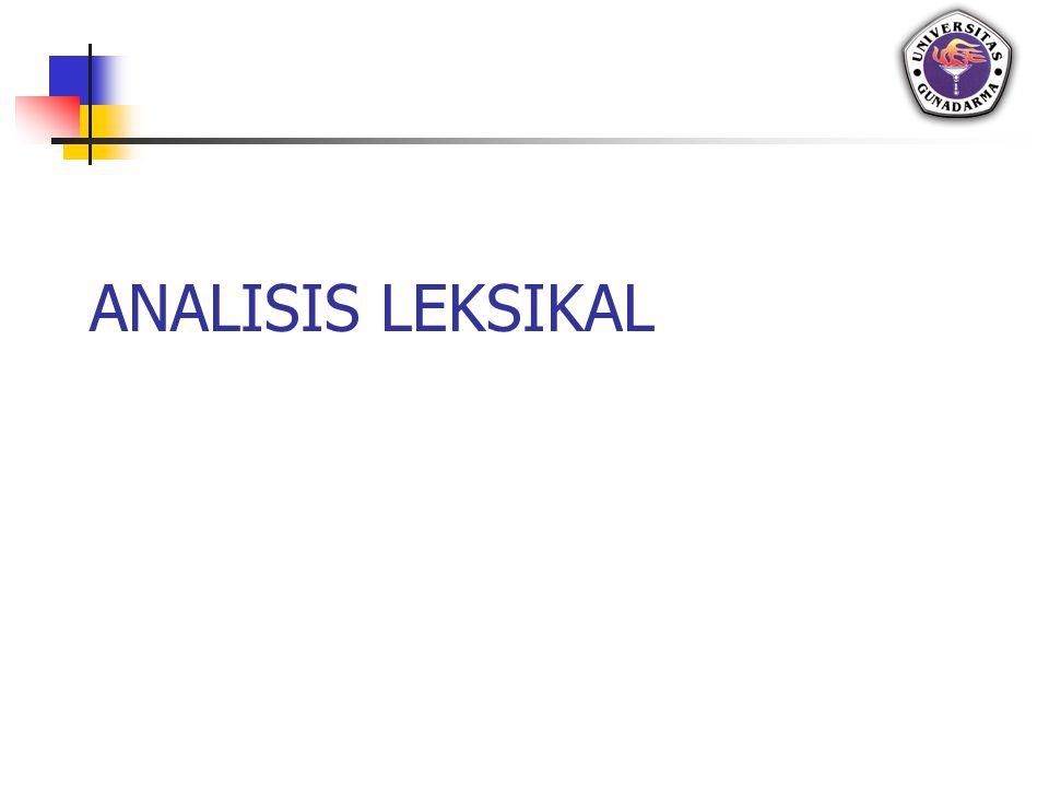 Pembahasan Letak analisis leksikal pada struktur kompiler Pengenalan analisis leksikal Scanning berdasarkan MSH Tugas analisis leksikal