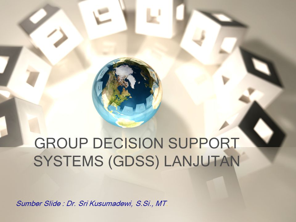 The GDSS Decision Room