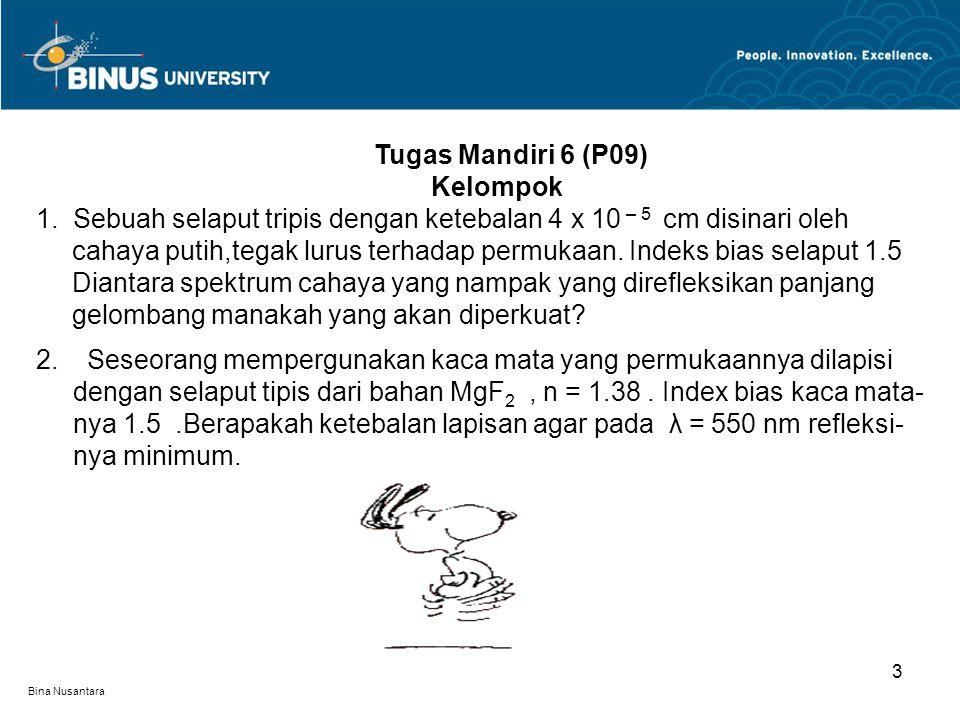 Bina Nusantara 4 Latihan 1 P09 1.