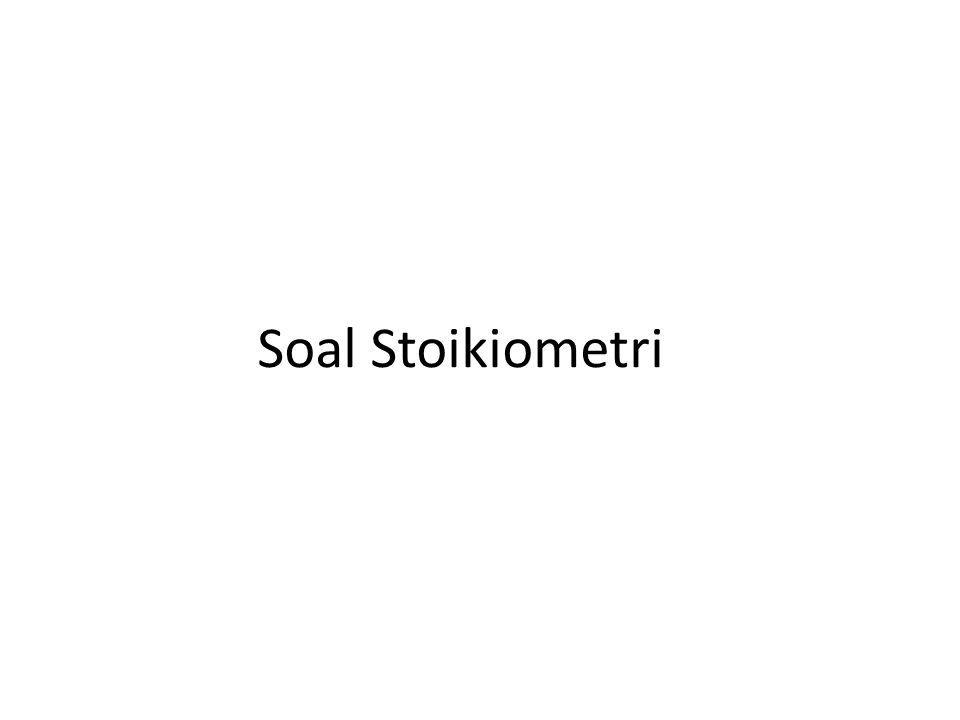 Soal Stoikiometri