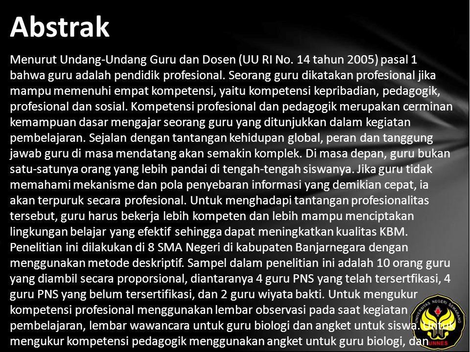 Abstrak Menurut Undang-Undang Guru dan Dosen (UU RI No.