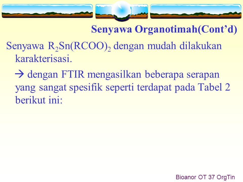 Bioanor OT 37 OrgTin Senyawa R 2 Sn(RCOO) 2 dengan mudah dilakukan karakterisasi.
