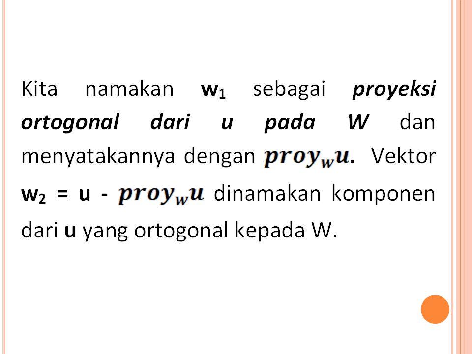 PROSES GRAM-SCHMIDT Teorema.