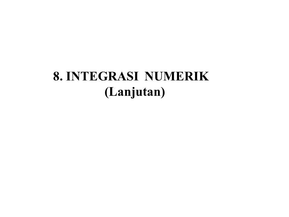 8.8 Metode Newton-Cotes Bentuk umum dari metode Newton-Cotes ditunjukkan pada persamaan berikut.