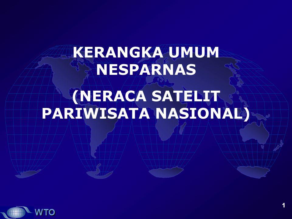 WTO 1 KERANGKA UMUM NESPARNAS (NERACA SATELIT PARIWISATA NASIONAL)