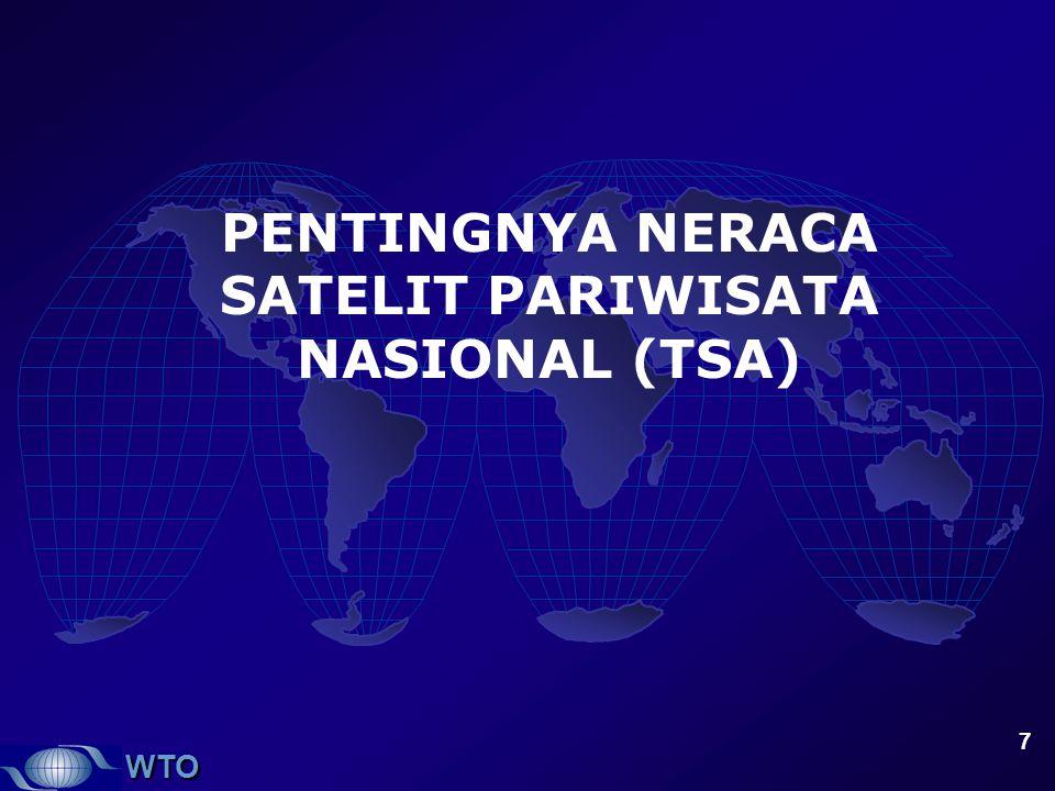 WTO 7 PENTINGNYA NERACA SATELIT PARIWISATA NASIONAL (TSA)