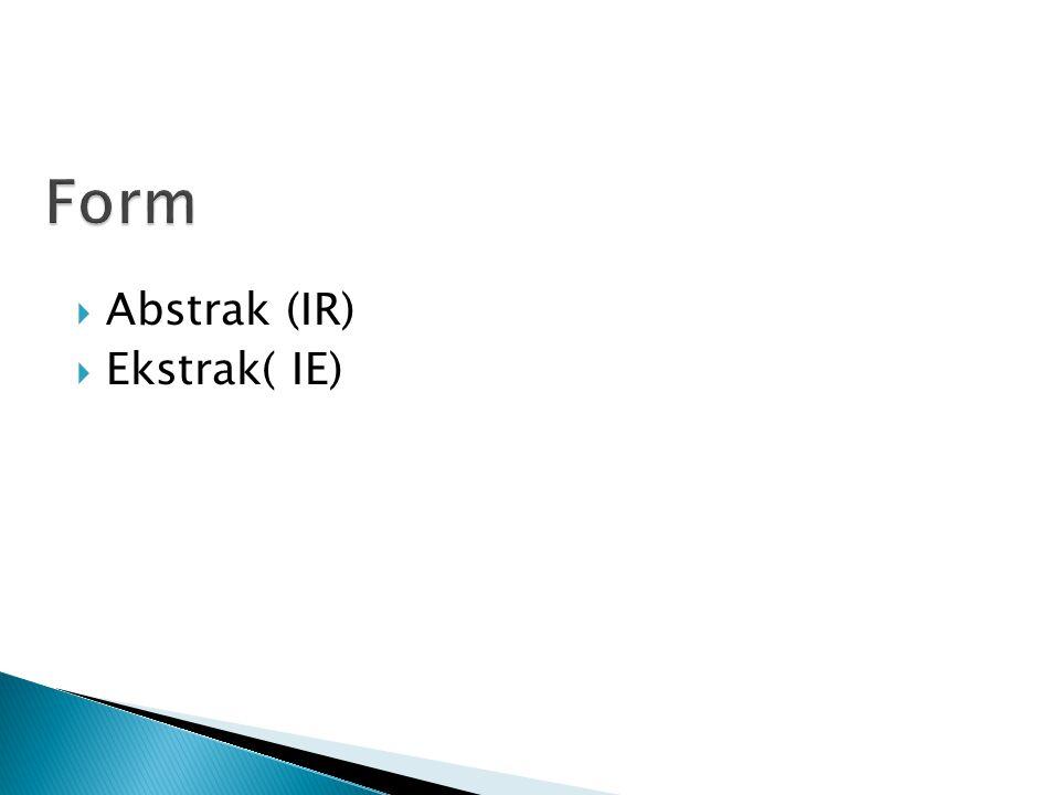  Abstrak (IR)  Ekstrak( IE)