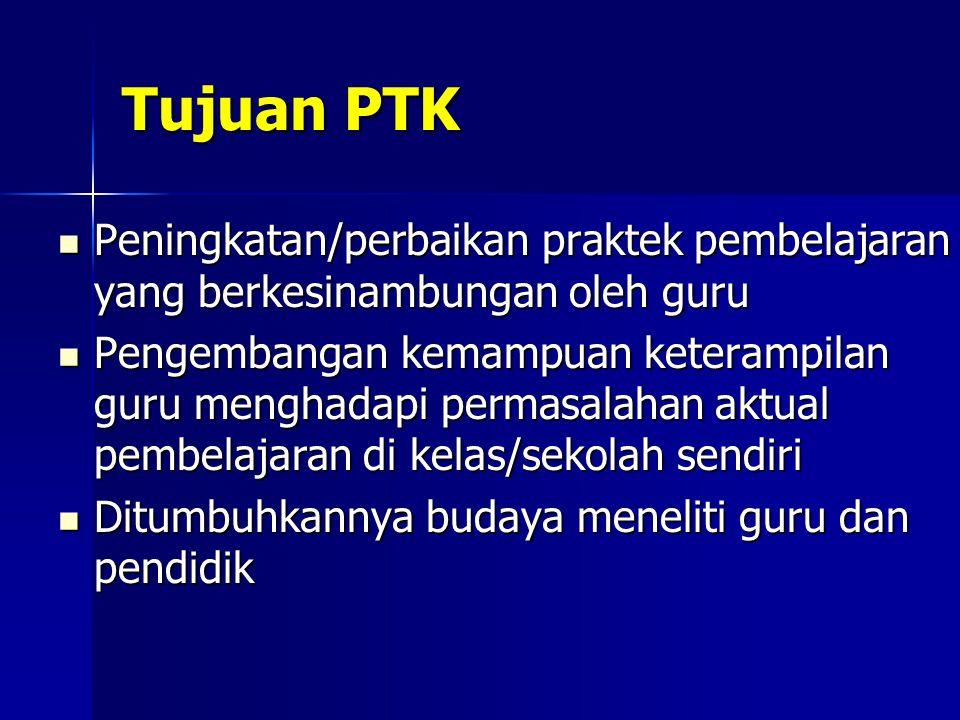 Perencanaan Tindakan Lanjutan Jika siklus pertama telah selesai PTK (biasanya) diteruskan dengan siklus kedua.