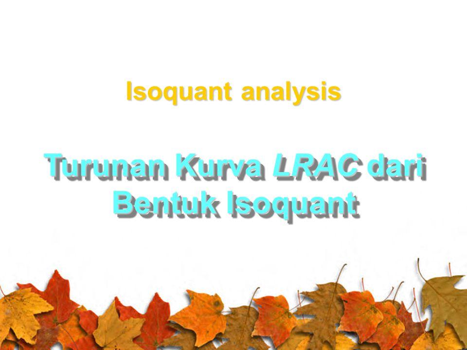 Turunan Kurva LRAC dari Bentuk Isoquant Isoquant analysis