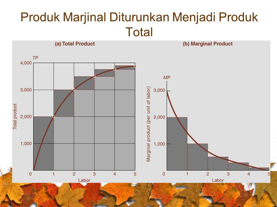 Produk Marjinal Diturunkan Menjadi Produk Total