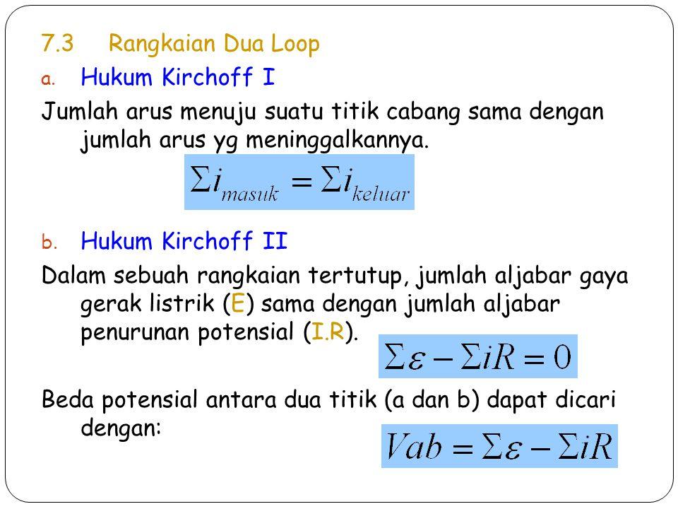 7.3Rangkaian Dua Loop a.