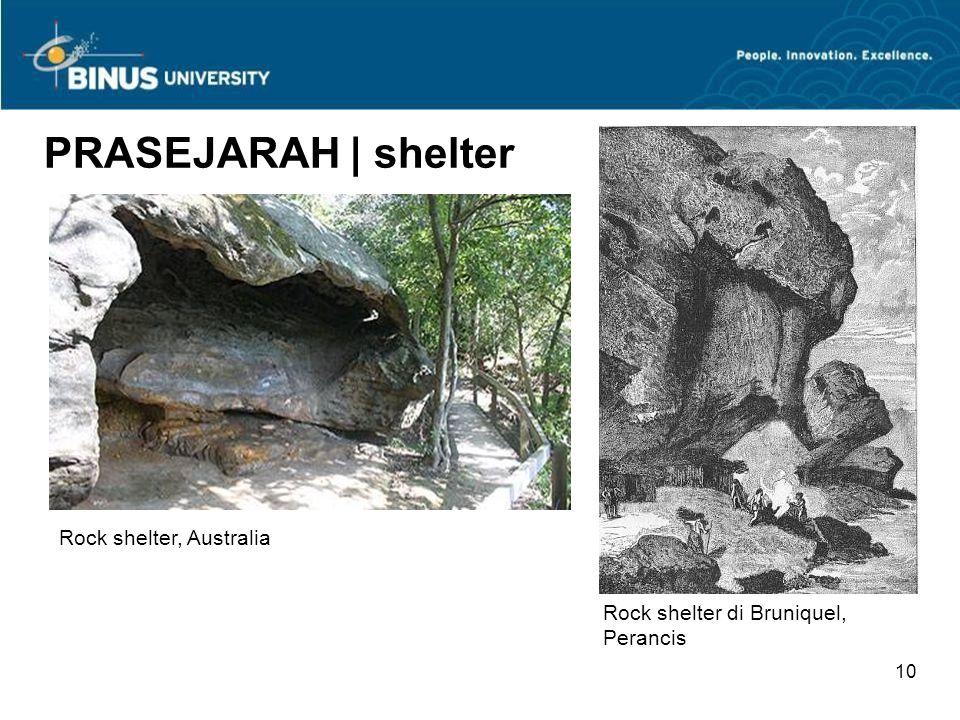 9 PRASEJARAH | shelter Shelter tulang mamoth di Ukraina, c. 16,000 - 10,000 SM Terra Amata shelter (rekonstruksi) http://psyc.queensu.ca/ccbr/Vol3/Tat