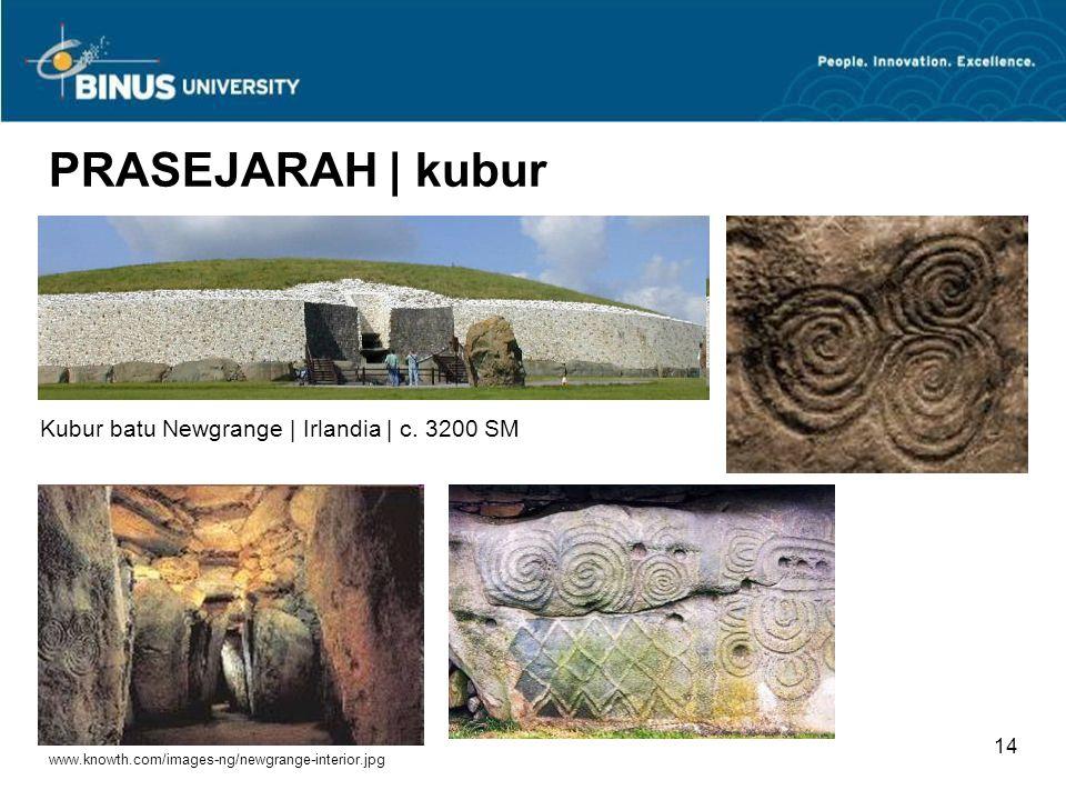 Bina Nusantara University 13 Stonehenge | Salisbury Plain, Inggris | c. 2750 - 1500 SM Sumber: news.bbc.co.uk/.../stonehenge_accessible_416.gif PRASEJ