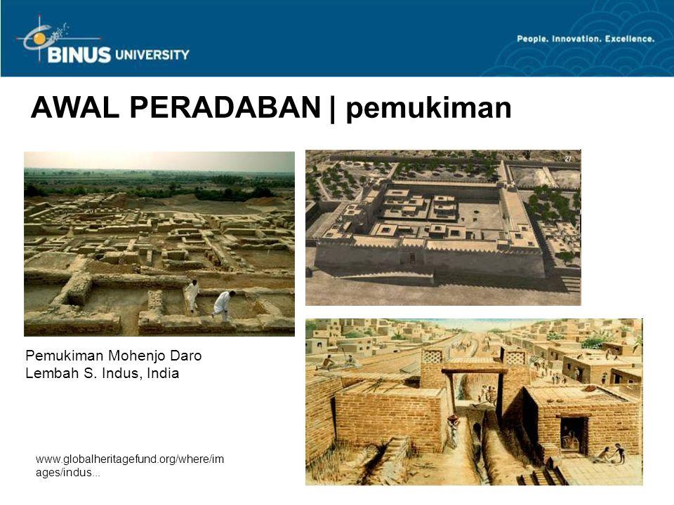 Bina Nusantara University 20 Pemukiman di Catal Huyuk, Turki c. 6,500 - 5,500 SM Rekonstruksi interior rumah AWAL PERADABAN | pemukiman
