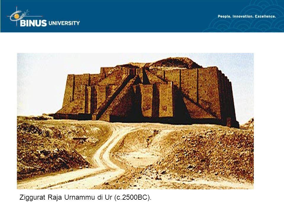 24 Ziggurat, pusat kota, balai pertemuan, dengan kuil pada bagian puncak MESOPOTAMIA | ziggurat