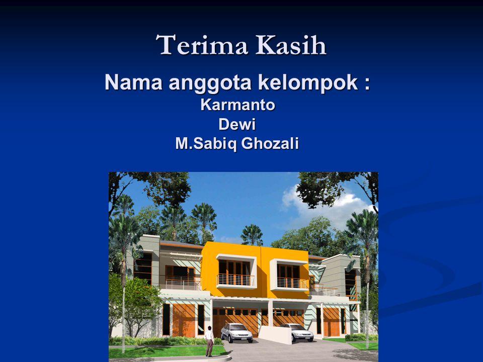 ELEMEN PENILAIAN PROPERTY Terima Kasih Nama anggota kelompok : Karmanto Dewi M.Sabiq Ghozali
