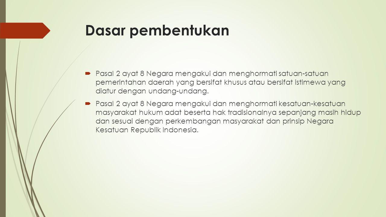 Definisi kawasan khusus 1.NAD 2.DKI Jakarta 3.DI Yogyakarta 4.Papua Kawasan khusus adalah bagian wilayah dalam provinsi dan/atau kabupaten/kota yang ditetapkan oleh Pemerintah untuk menyelenggarakan fungsi-fungsi pemerintahan yang bersifat khusus bagi kepentingan nasional.
