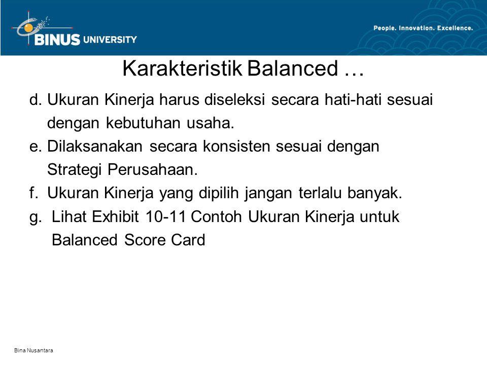 Bina Nusantara Karakteristik Balanced … d.