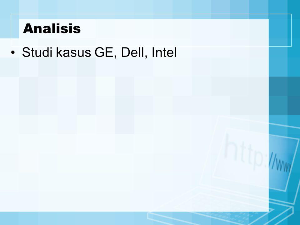 Studi kasus GE, Dell, Intel Analisis