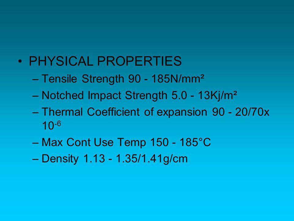 PP –PolyPropylene –Sifat : Rigid dan kuat Tembus pandang Tahan bahan kimia Tahan terhadap kelelahan Tahan terhadap panas –Contoh penggunaan : Bumper mobil Packaging