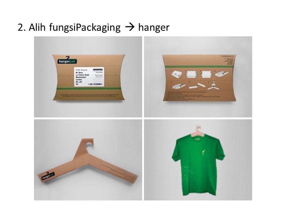 2. Alih fungsiPackaging  hanger