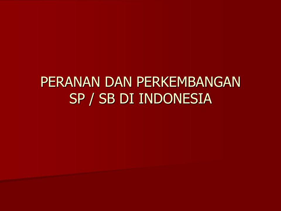 PERANAN DAN PERKEMBANGAN SP / SB DI INDONESIA