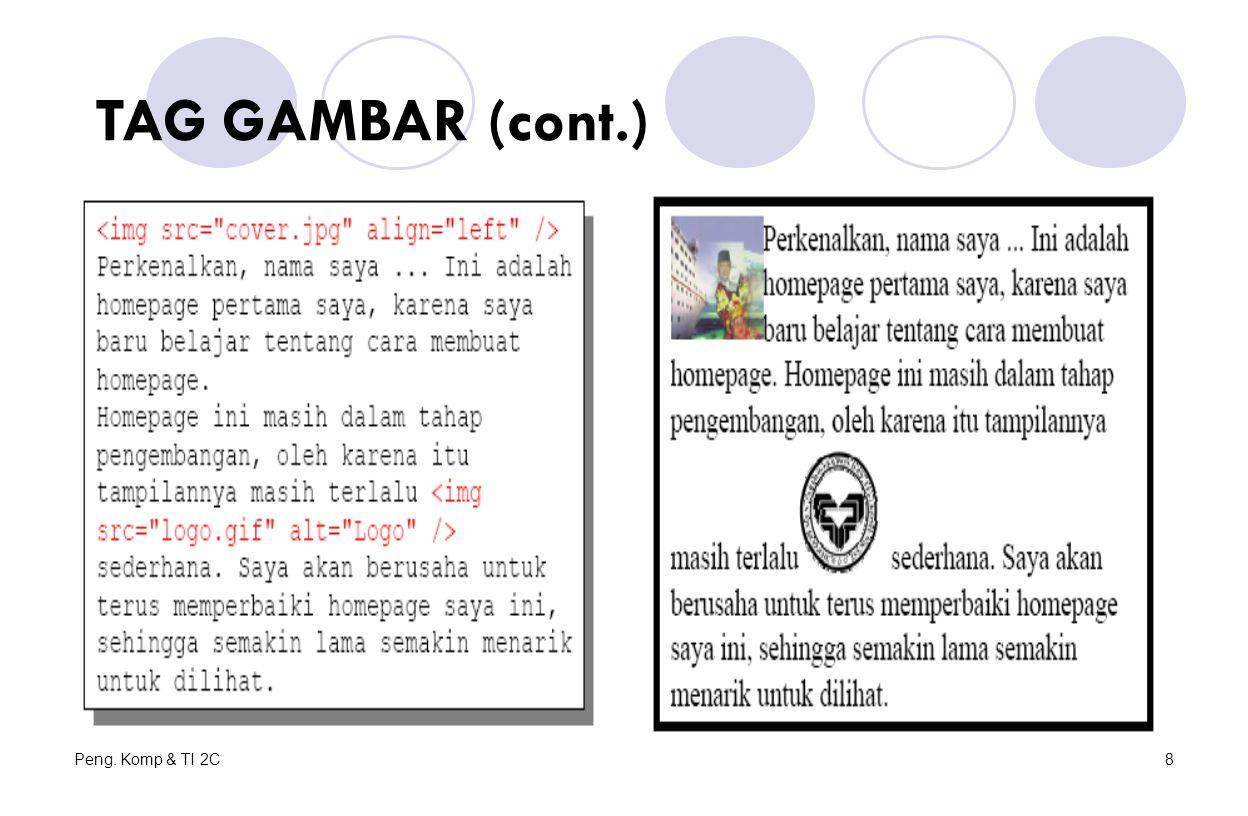 Peng. Komp & TI 2C8 TAG GAMBAR (cont.)