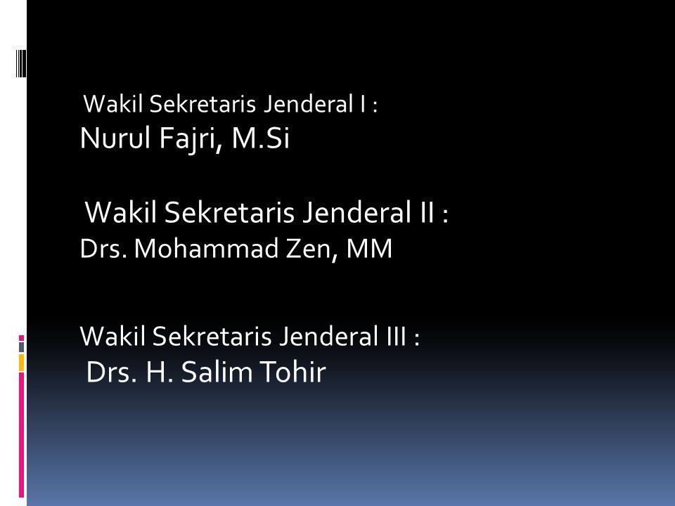 Sekretaris Jenderal : H. Oke Setiadi, M.Sc