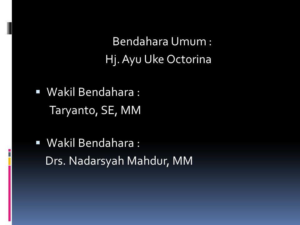 Wakil Sekretaris Jenderal IV : H. Didin Hadiyudin, SE Wakil Sekretaris Jenderal V : DR. H. M. Tauhid, Lc, MA Wakil Sekretaris Jenderal VI : Drs. H. Ag