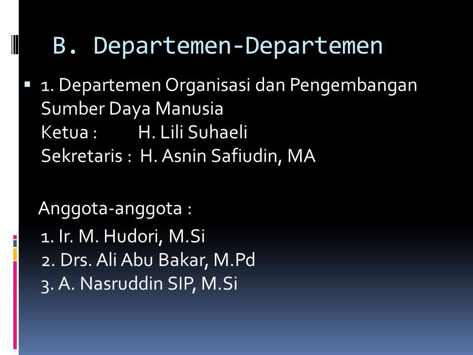 Bendahara Umum : Hj. Ayu Uke Octorina  Wakil Bendahara : Taryanto, SE, MM  Wakil Bendahara : Drs. Nadarsyah Mahdur, MM