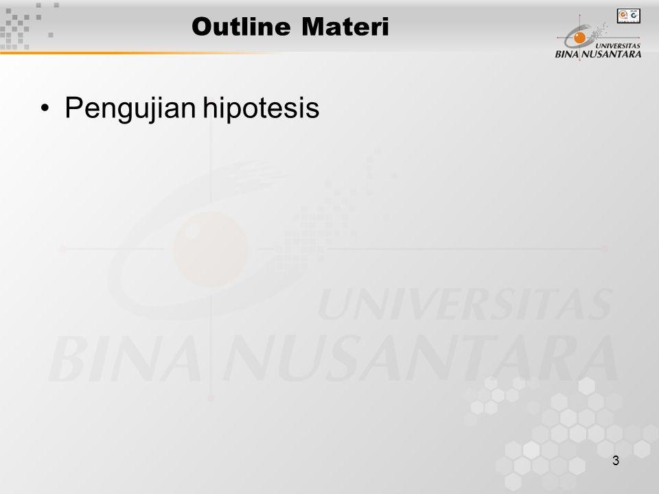 3 Outline Materi Pengujian hipotesis