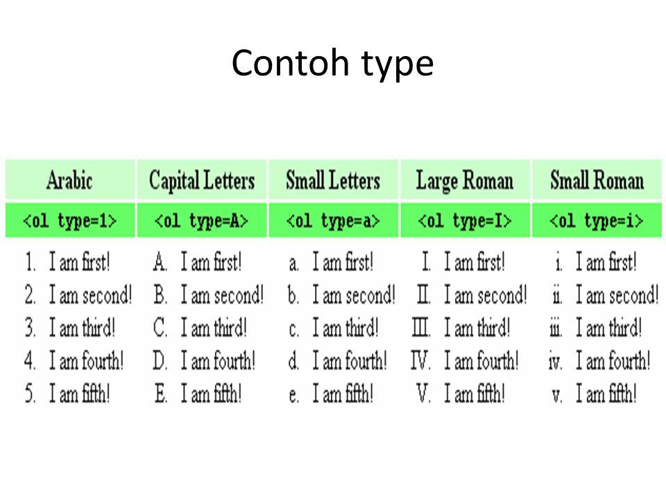 Contoh type