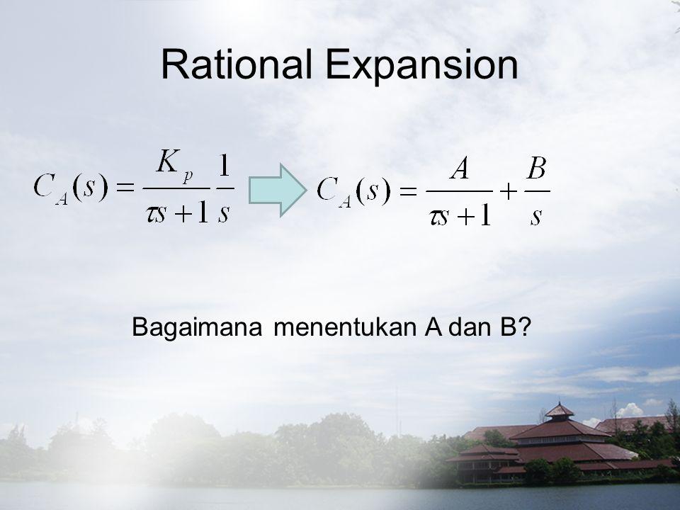 Rational Expansion Bagaimana menentukan A dan B