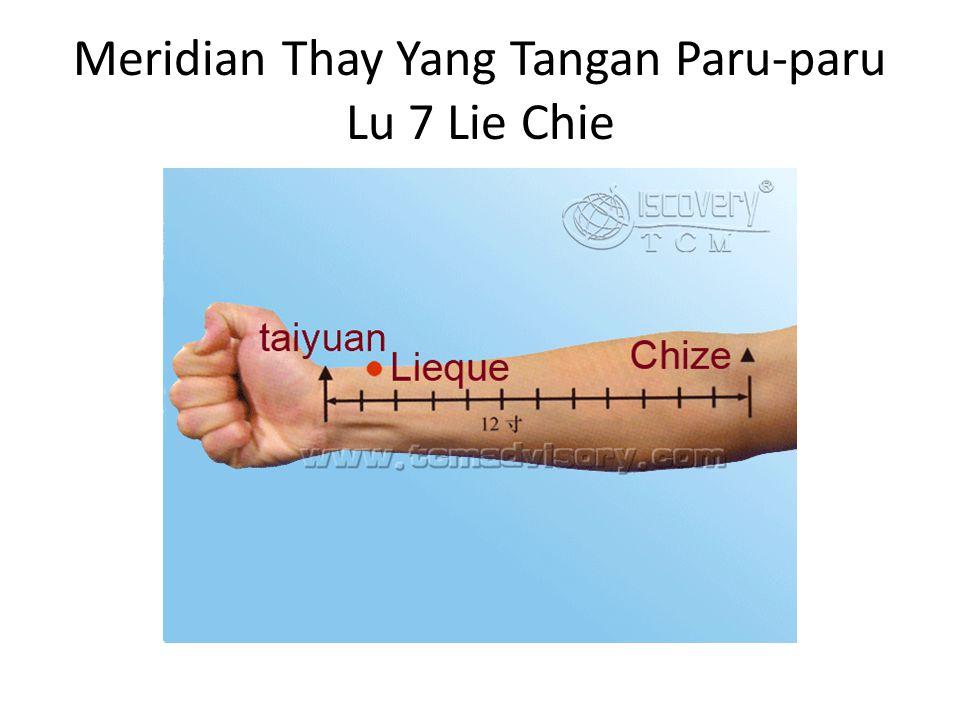 Meridian Thay Yang Tangan Paru-paru Lu 7 Lie Chie