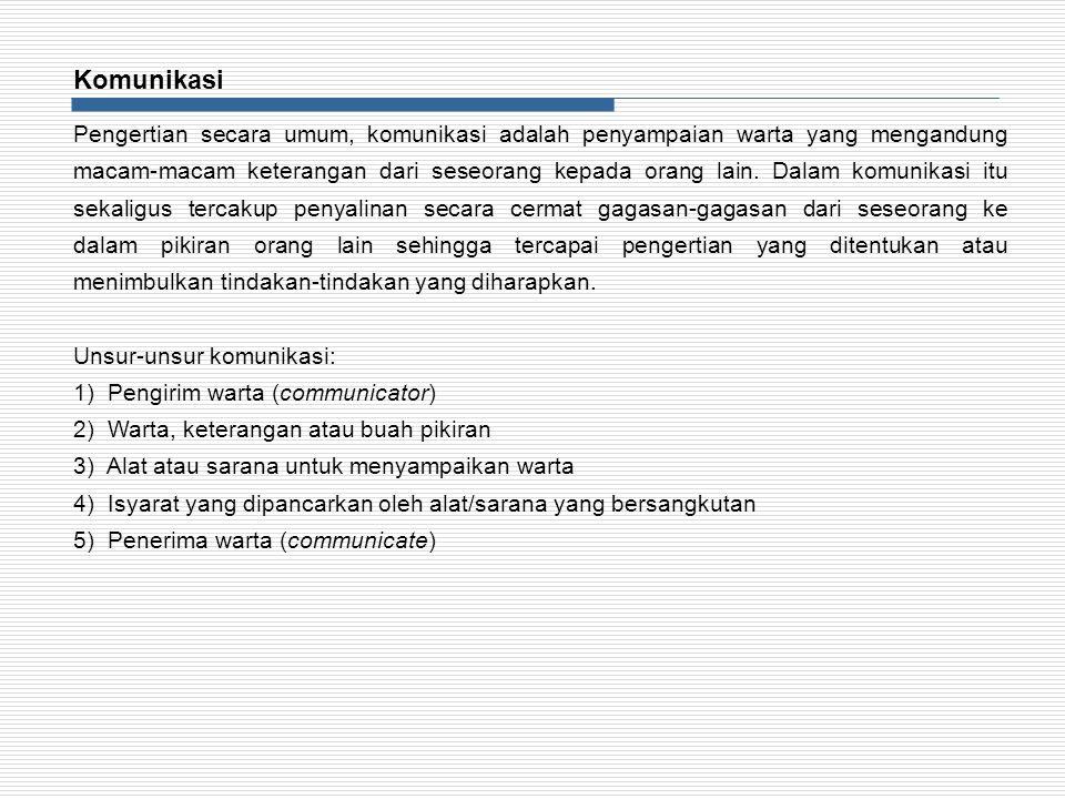 Cara dan alat yang dapat dipergunakan untuk mengadakan hubungan/komunikasi diantaranya: a.