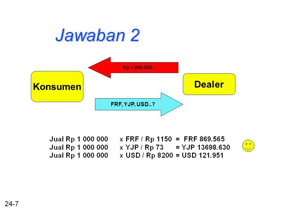 24-7 Jawaban 2 Konsumen Dealer Rp 1.000.000,- FRF, YJP, USD..?