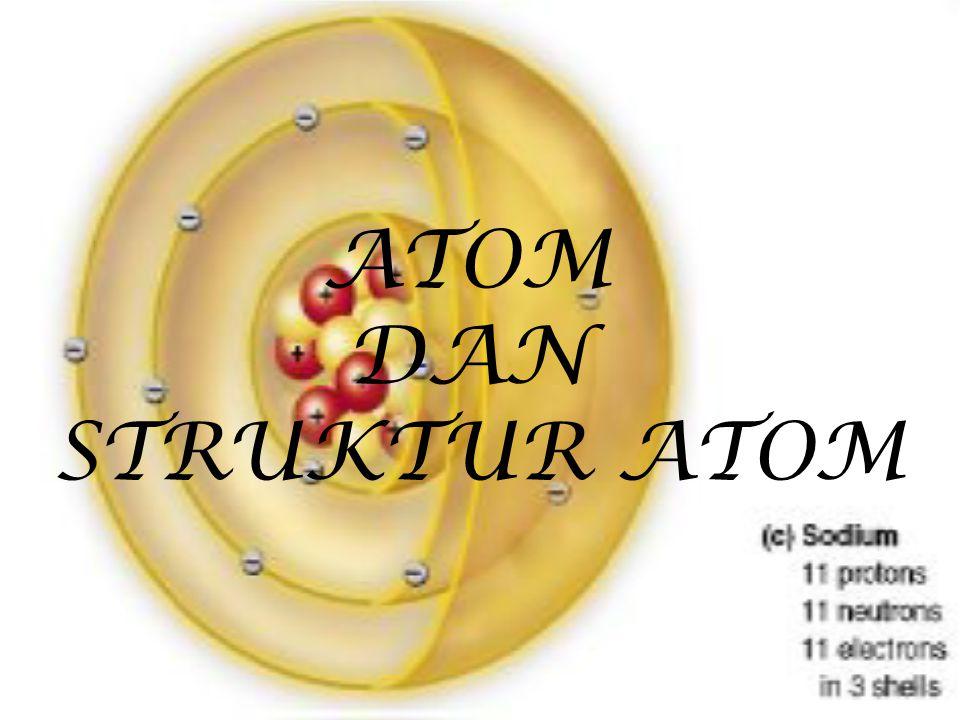 Mengapa struktur atom dipelajari.1. Penyusunan bagian-bagian atom akan menentukan sifat materi 2.