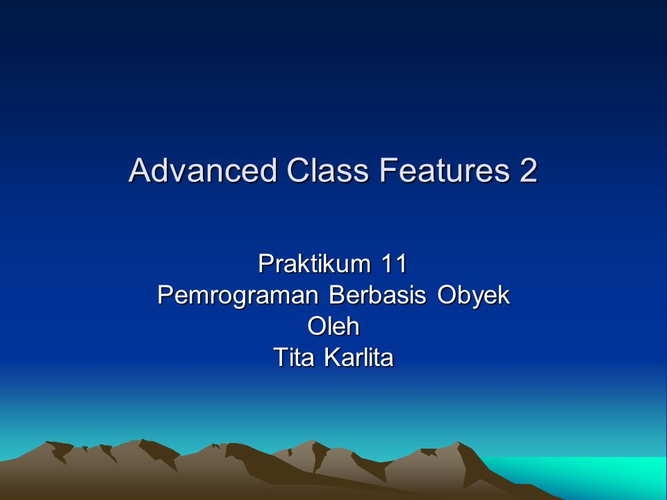 Topik Abstract Class Interface Inner Class –Non-static Inner class Mendeklarasikan class di dalam class –Local Inner Class Mendeklarasikan class di dalam method –Anonymous inner class –Static inner class