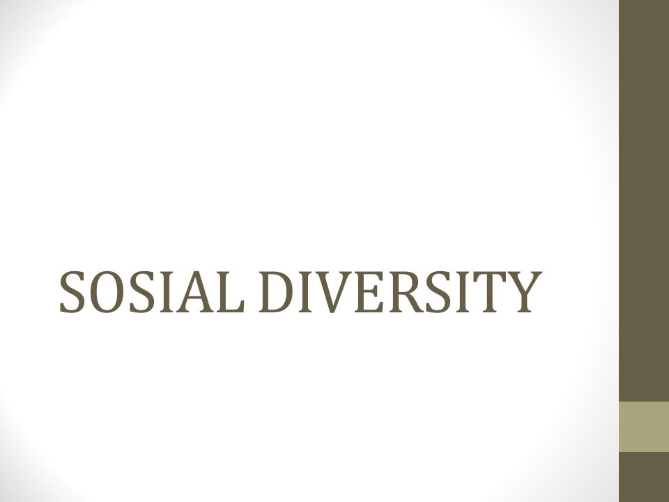 KeanekaRagaman Sosial merupakan hal yang tidak bisa di hindari,apa saja contoh keanekaragaman tersebut.