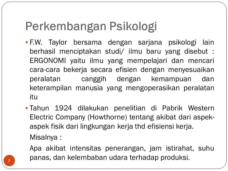 Perkembangan Psikologi 7  F.W.