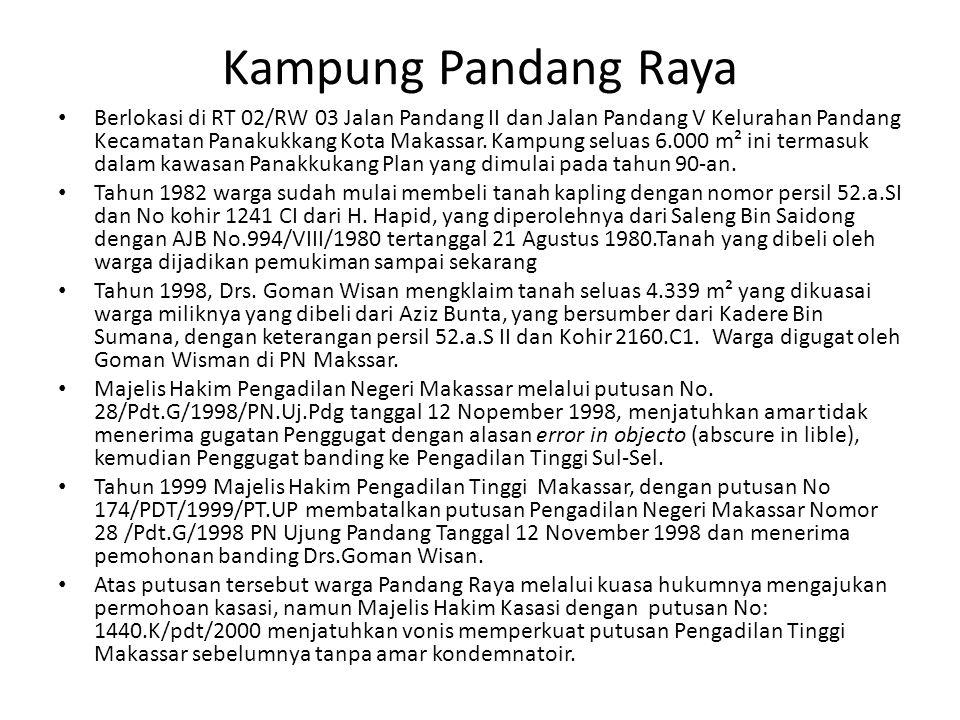 Kampung Pandang Raya Berlokasi di RT 02/RW 03 Jalan Pandang II dan Jalan Pandang V Kelurahan Pandang Kecamatan Panakukkang Kota Makassar. Kampung selu