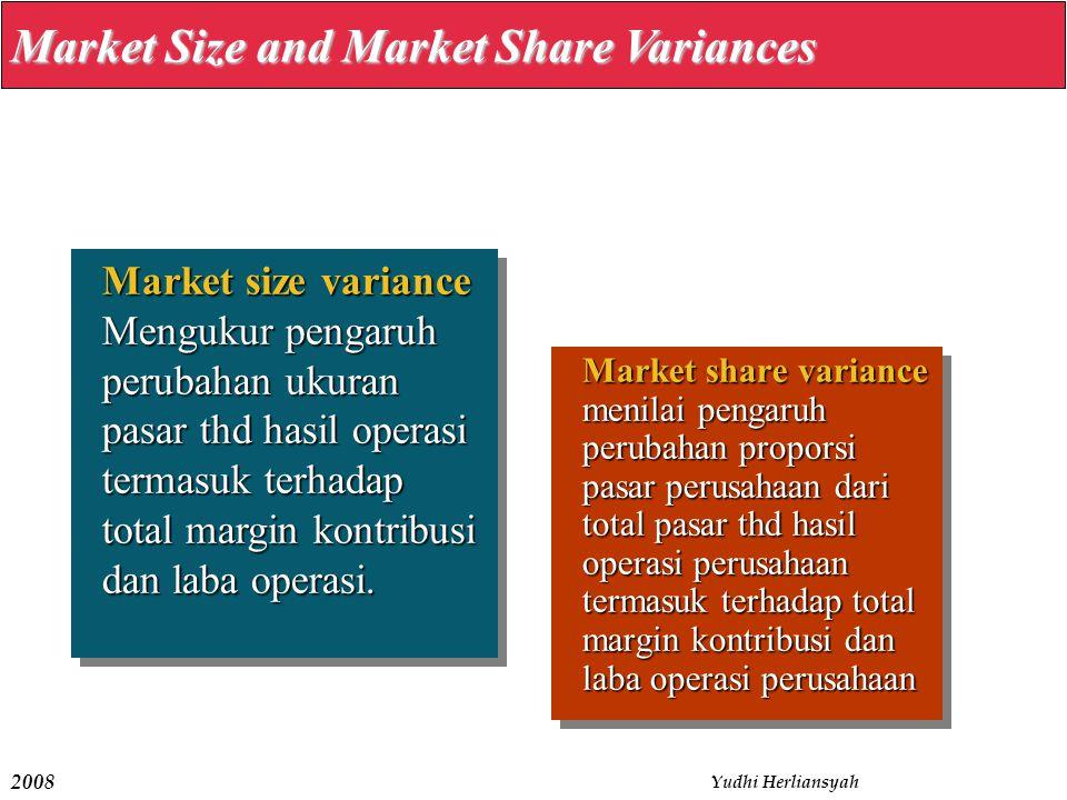 2008 Yudhi Herliansyah Market share variance menilai pengaruh perubahan proporsi pasar perusahaan dari total pasar thd hasil operasi perusahaan termas